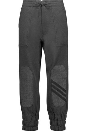 Y-3 + adidas Originals paneled cotton-jersey track pants