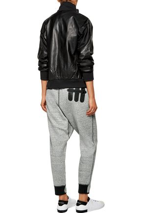 Y-3 + adidas Originals marled cotton-blend ponte track pants