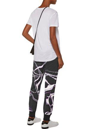 Y-3 + adidas Originals printed cotton-jersey track pants