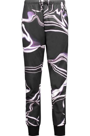 Y-3 + adidas Originals printed cotton-jersey track pants