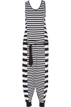 Y-3 + adidas Originals striped stretch-cotton jumpsuit
