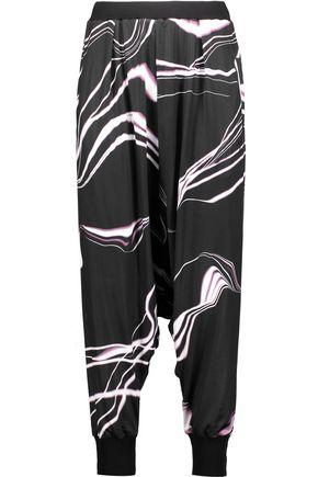 Y-3 + adidas Originals draped printed stretch-jersey pants