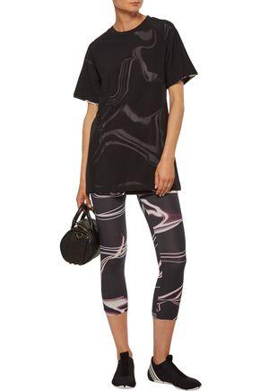 Y-3 + adidas Originals cropped printed stretch-cotton leggings