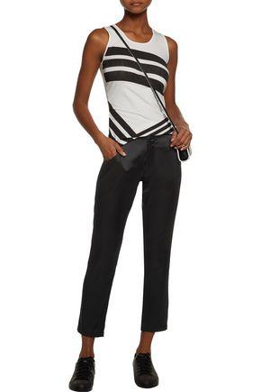 Y-3 + adidas Originals cropped satin slim-leg pants