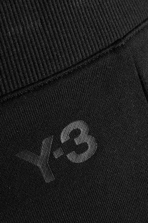 Y-3 French cotton-terry straight-leg pants