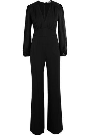 DIANE VON FURSTENBERG Viona chiffon-paneled silk-blend jumpsuit