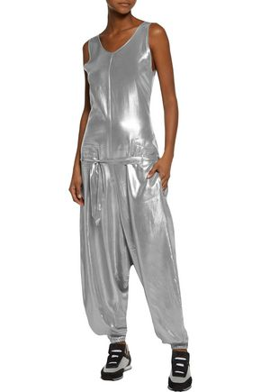 Y-3 + adidas Originals wrap-effect lamé jumpsuit