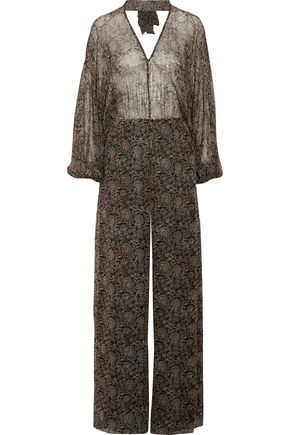 ZIMMERMANN Lavish open-back printed silk-chiffon jumpsuit