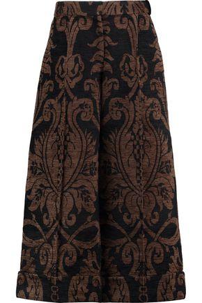 SIMONE ROCHA Cropped chenille wide-leg pants