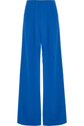 ALICE + OLIVIA Eloise pleated crepe wide-leg pants