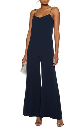 THEORY Binx flared crepe jumpsuit