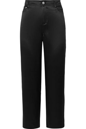 OPENING CEREMONY Cropped silk-charmeuse straight-leg pants