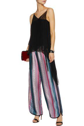 CINQ À SEPT Silk wide-leg pants