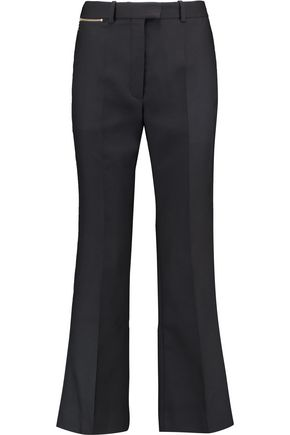 NINA RICCI Wool and silk-blend twill bootcut pants
