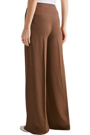 THEORY Ryeridge silk-crepe wide-leg pants