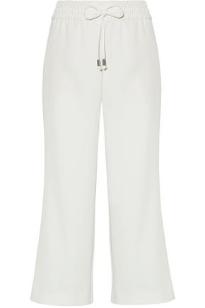 ALICE + OLIVIA Cropped crepe wide-leg pants