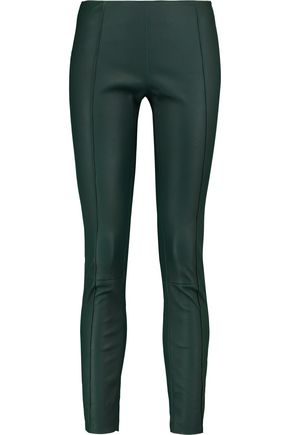 DROMe Cropped leather leggings
