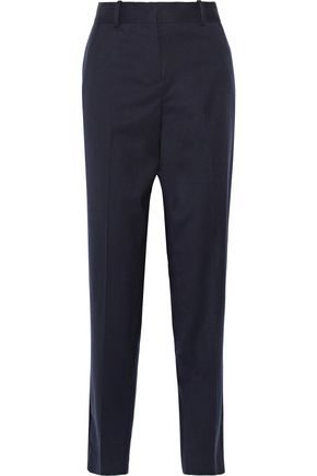 MAJE Wool-crepe straight-leg pants