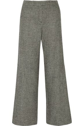 MAJE Paname wool-blend jacquard wide-leg pants