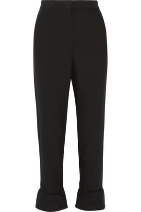 MAJE Phoebe fluted crepe flared pants