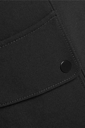 SANDRO Plug cropped crepe straight-leg pants
