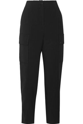 SANDRO Paris Plug cropped crepe straight-leg pants