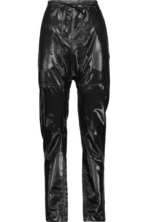 ISABEL MARANT Niall silk-blend lamé tapered pants