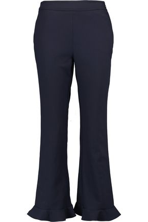 OPENING CEREMONY William ruffle-trimmed stretch-crepe straight-leg pants
