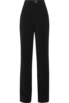 CUSHNIE ET OCHS Eyelet-embellished stretch-crepe straight-leg pants