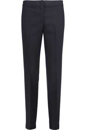 TORY BURCH Textured wool-blend slim-leg pants