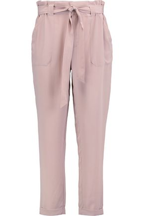 JOIE Asuka washed-silk straight-leg pants