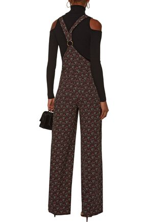 A.L.C. Kitt printed silk-crepe overalls