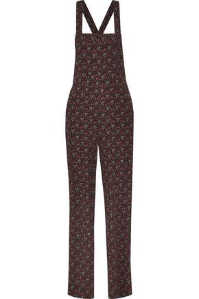 A.L.C. Kitt printed silk-crepe overalls