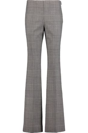 THEORY Demitria Portland checked stretch-wool bootcut pants