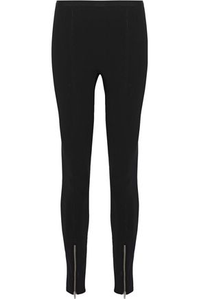 HELMUT LANG Zip-detailed jersey leggings