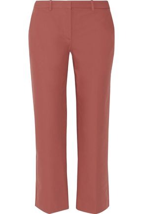 THEORY Cotton-blend straight-leg pants