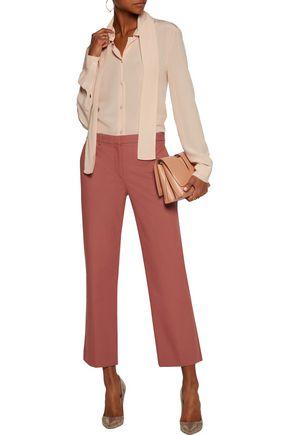 THEORY Cotton-blend straight-leg pants