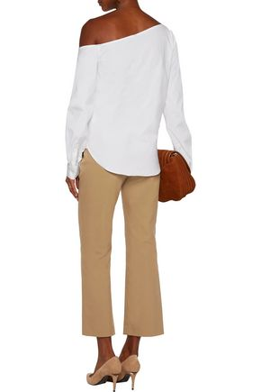 THEORY Hartsdale cotton-blend canvas straight-leg pants