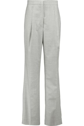PRINGLE OF SCOTLAND Wool-crepe wide-leg pants