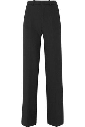 JOSEPH Fergus satin-trimmed stretch-twill wide-leg pants