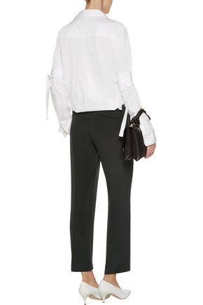 JOSEPH Lula silk-crepe slim-leg pants