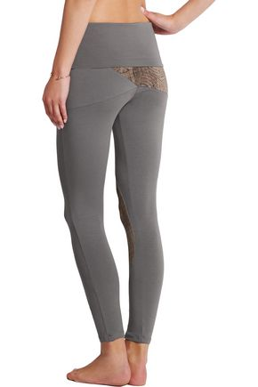 WEARGRACE Yin Yang printed stretch-jersey leggings