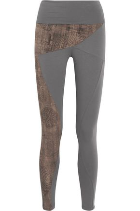 WEARGRACE Yin Yang printed stretch-jersey leggings