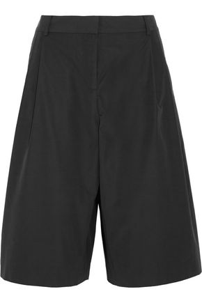 T by ALEXANDER WANG Pleated cotton-blend culottes