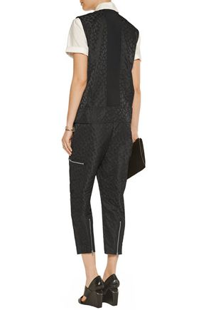 ALEXANDER WANG Flight Suit zip-embellished jacquard jumpsuit