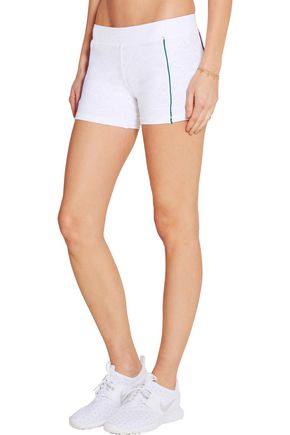L'ETOILE SPORT Perforated stretch-lace tennis shorts