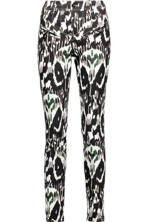 ISABEL MARANT Nella printed stretch-cotton skinny pants