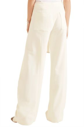 PROENZA SCHOULER Wrap-effect crepe wide-leg pants