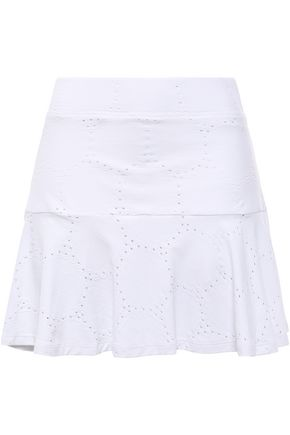 L'ETOILE SPORT Pointelle-trimmed stretch-knit shorts