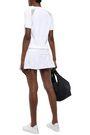 L'ETOILE SPORT Pointelle-knit tennis skirt